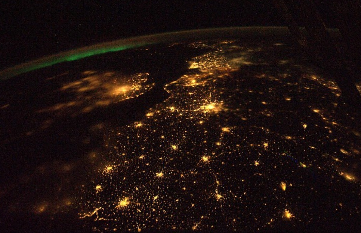 earth at night from space station surprise me. Black Bedroom Furniture Sets. Home Design Ideas