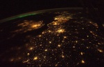 Night image of earth from space station