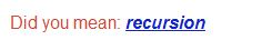 Google: Trick #4: Recursion